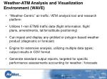weather atm analysis and visualization environment wave