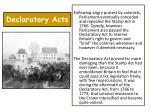 declaratory acts