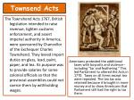 townsend acts