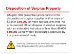 disposition of surplus property