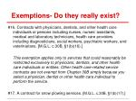 exemptions do they really exist3