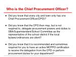 who is the chief procurement officer