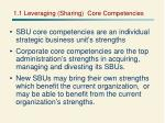 1 1 leveraging sharing core competencies