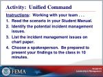 activity unified command