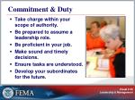 commitment duty