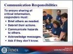 communication responsibilities