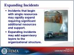 expanding incidents