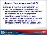 informal communication 2 of 2
