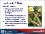 leadership duty