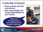 leadership integrity