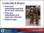 leadership respect