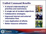 unified command benefits
