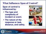 what influences span of control