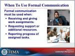 when to use formal communication