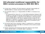 sc6 allocated conditional responsibility for 8802 revision processes to ieee 802 wg s