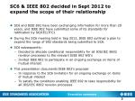 sc6 ieee 802 decided in sept 2012 to expand the scope of their relationship