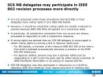 sc6 nb delegates may participate in ieee 802 revision processes more directly