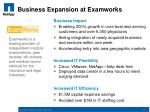 business expansion at examworks