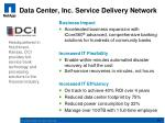 data center inc service delivery network
