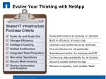 evolve your thinking with netapp