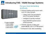introducing fas v6200 storage systems