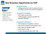new business opportunity for sap