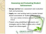 assessing and evaluating student achievement