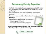 developing faculty expertise
