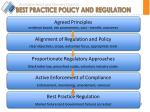 best practice policy and regulation