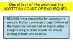 one effect of the union was the scottish court of exchequer