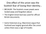 one effect of the union was the scottish fear of losing their identity