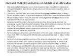 fao and mafcrd activities on mlnd in south sudan1