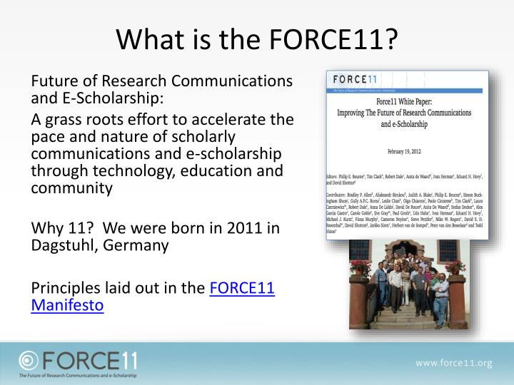 What is the force11