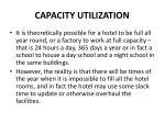 capacity utilization1