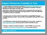 support resources available to you
