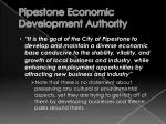 pipestone economic development authority