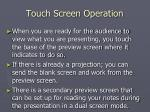 touch screen operation5