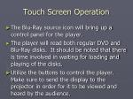 touch screen operation7