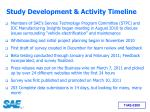 study development activity timeline