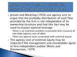 agency cost another equilibrium theory of optimal capital structure
