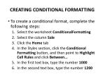 creating conditional formatting1