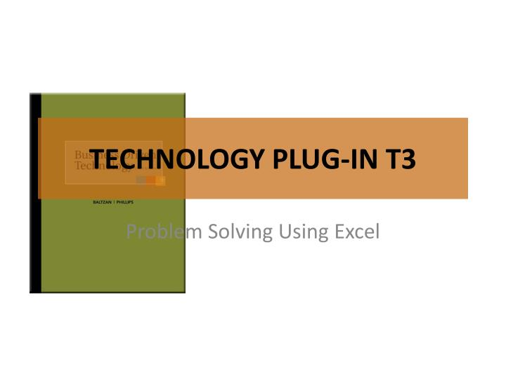 technology plug in t3 n.