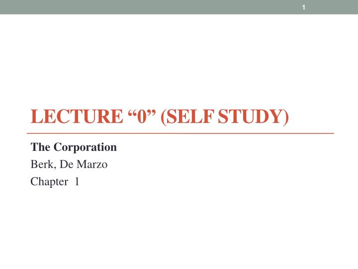 lecture 0 self study n.