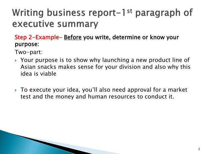 business paragraph writing
