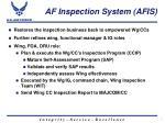 af inspection system afis