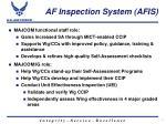 af inspection system afis1