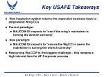 key usafe takeaways