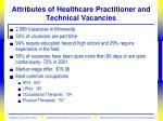 attributes of healthcare practitioner and technical vacancies