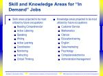 skill and knowledge areas for in demand jobs