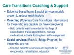 care transitions coaching support